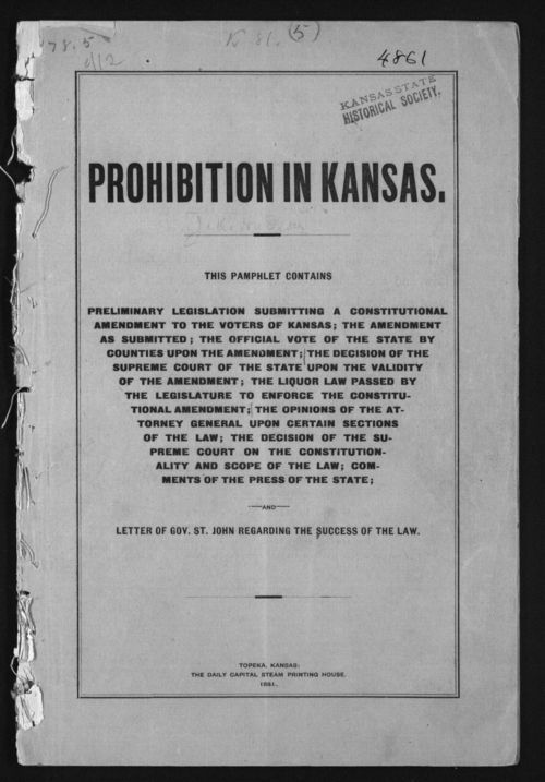 Prohibition in Kansas - Page