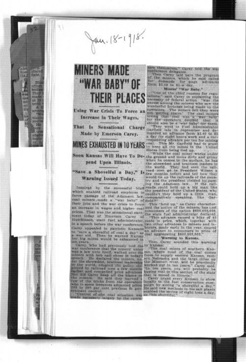 """Miners made """"war baby"""" of their places - Page"""