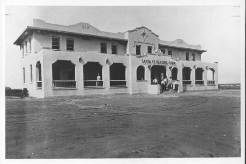 Atchison, Topeka & Santa Fe Railway Company reading room and depot, Slaton, Texas - Page
