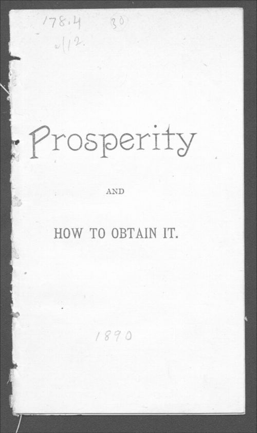 Prosperity and how to obtain it - Page