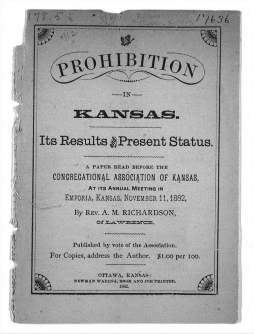 Prohibition in Kansas.  Its results and present status - Page