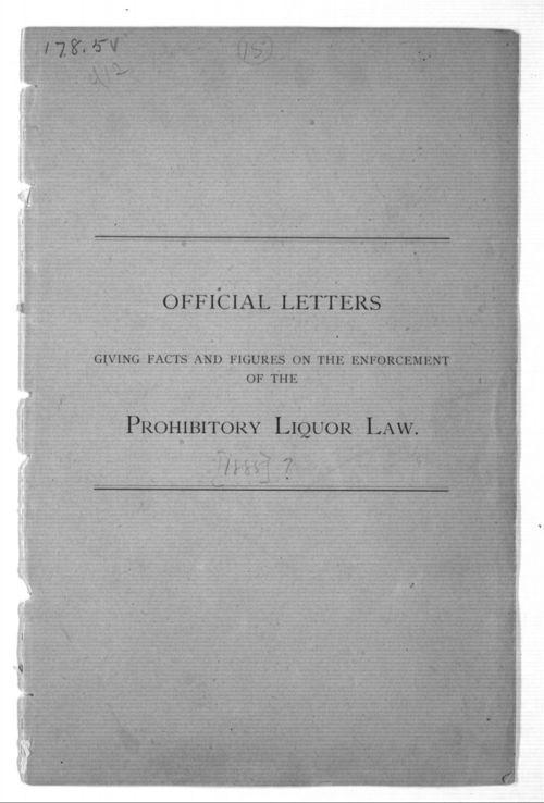Prohibitory liquor law - Page