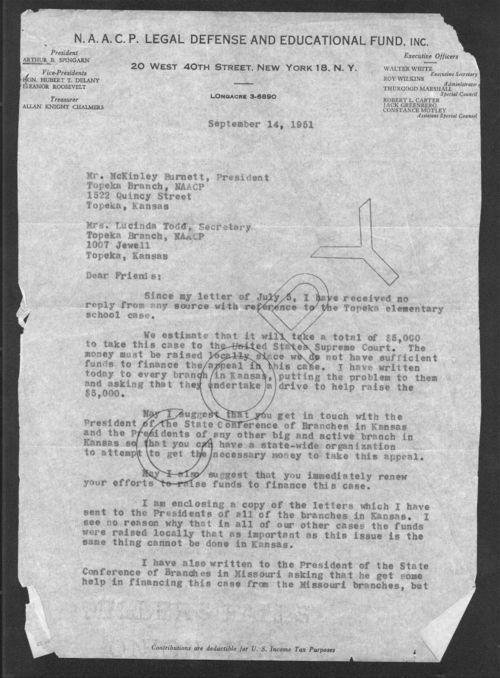 Attorney Robert Carter to McKinley Burnett - Page