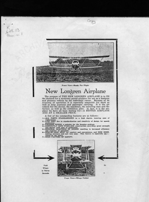 New Longren airplane - Page