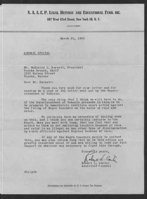 Airmail Special Letter: Robert Carter to Mckinley Burnett - Page