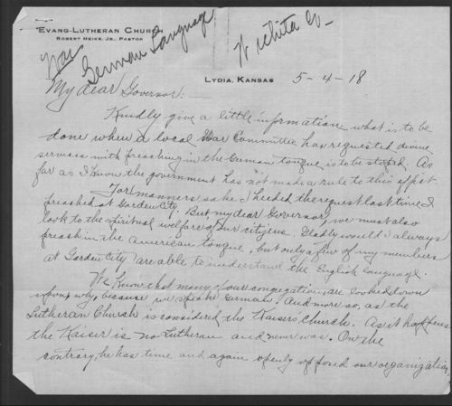 Robert Heike to Arthur Capper - Page