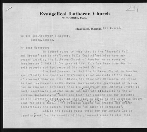 Lutheran Church protests correspondence - Page