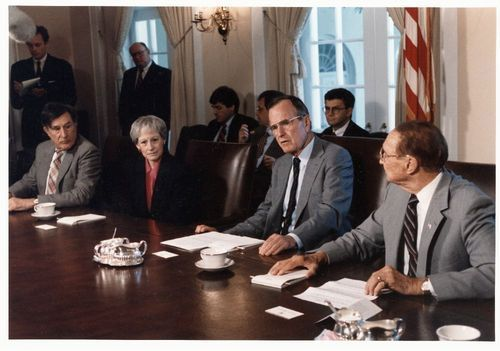 Nancy Landon Kassebaum and United States President George H. W. Bush - Page