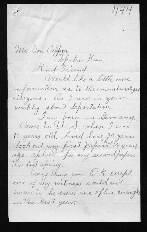 Herman Buckman to Arthur Capper - Page