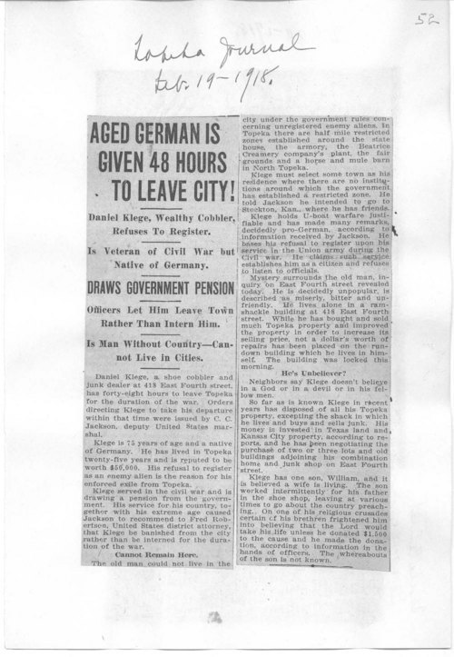 Aged German is given 48 hours to leave city! - Page