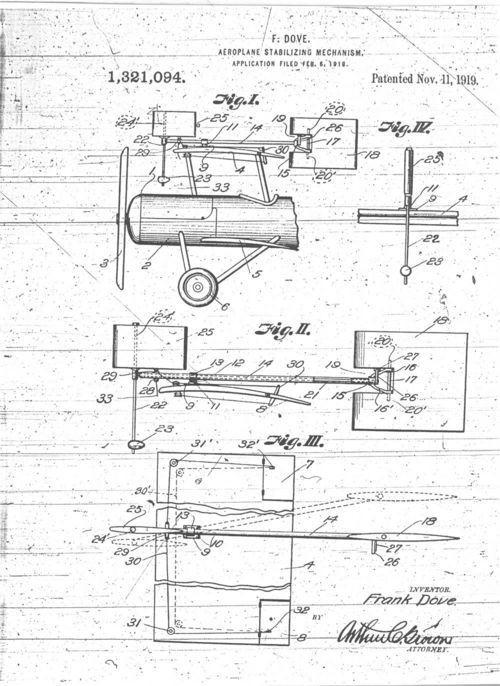 Aeroplane stabilizing mechanism - Page