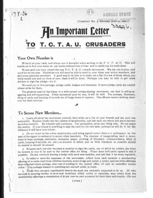 An important letter to T.C.T.A.U. crusaders - Page