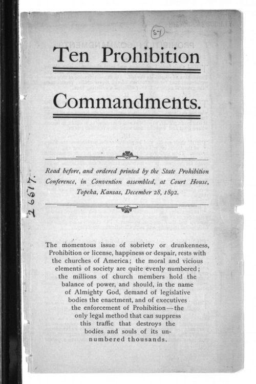Ten prohibition commandments - Page