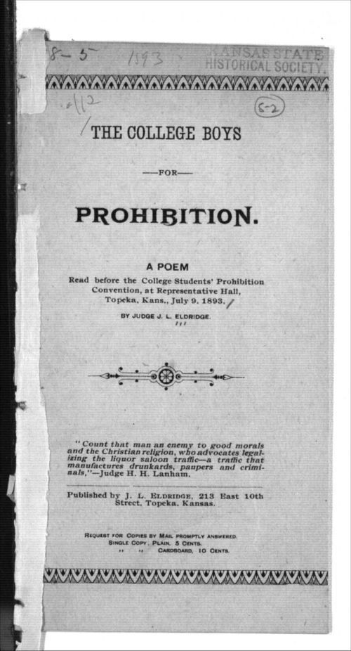 The college boys for prohibition - Page