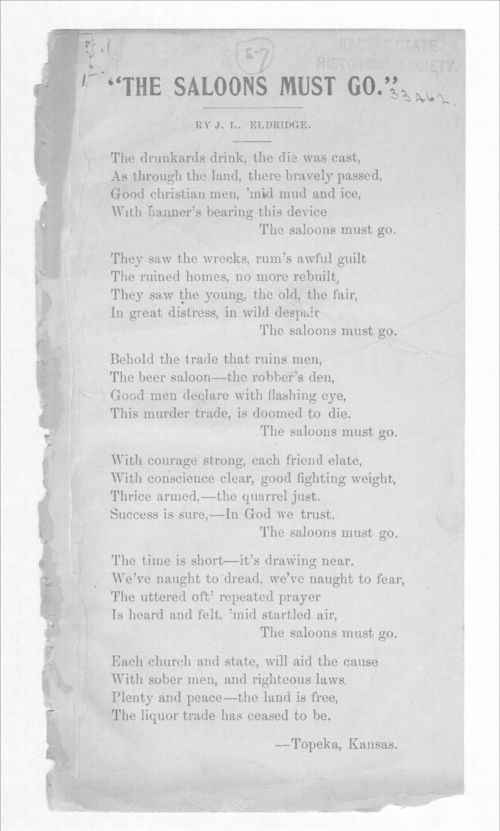 The saloons must go - Page