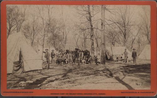Boomer camp on Walnut River, Arkansas City, Kansas - Page