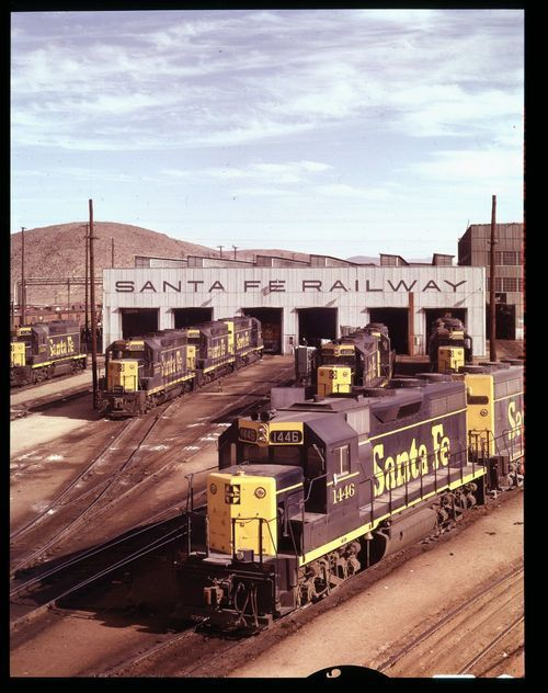 Atchison, Topeka and Santa Fe Railway Company diesel shops, Barstow, California - Page