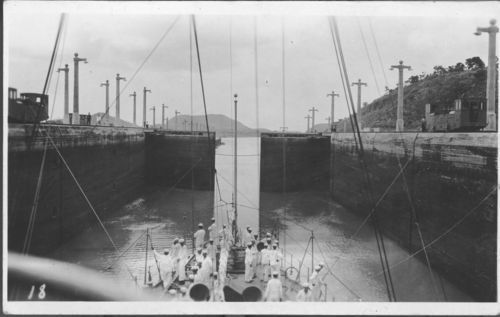 USS New Orleans going through the Panama Canal - Page