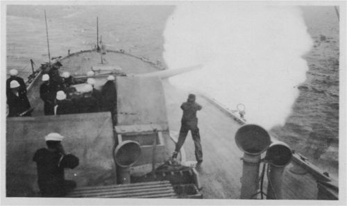 Firing a gun from the USS New Orleans - Page