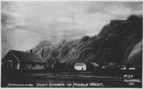 Approaching Dust Storm in Middle West - Page