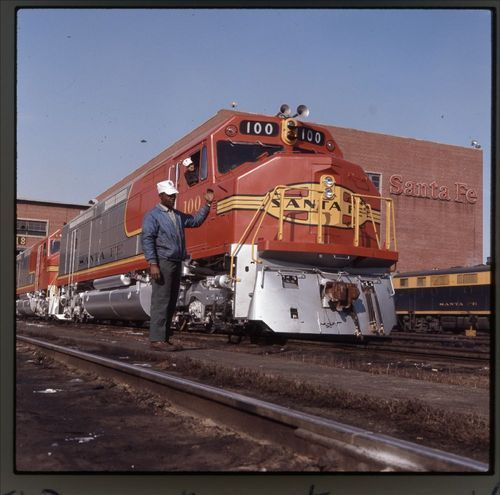 Atchison, Topeka & Santa Fe Railway Company's locomotive #100, Argentine Kansas - Page