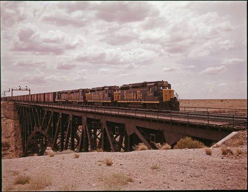 Atchison Topeka & Santa Fe Railway Company manifest freight train - Page