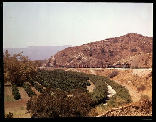 Atchison Topeka & Santa Fe manifest freight train, Santa Ana Canyon, California - Page