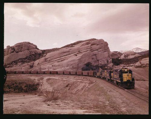 Atchison Topeka & Santa Fe Railway Company train, Cajon Pass, California - Page