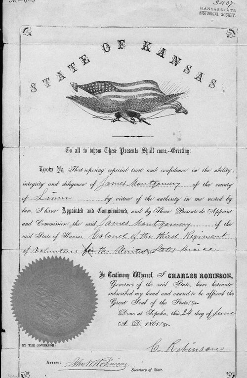Colonel James Montgomery appointment - Page