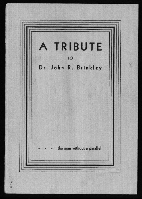 A tribute to Dr. John R. Brinkley - Page