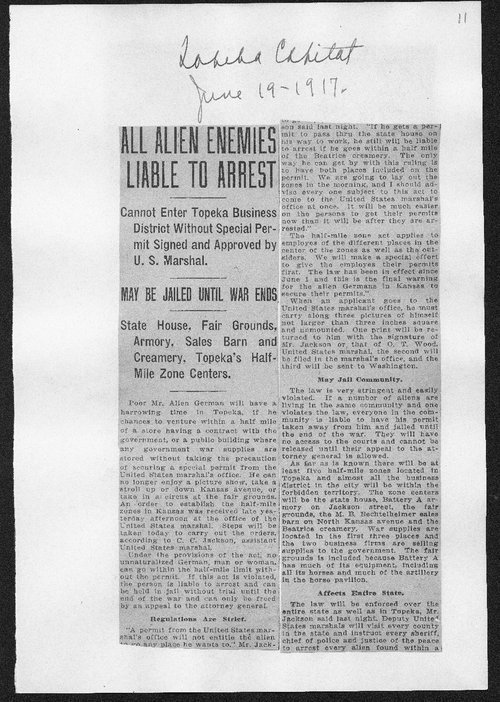 All alien enemies liable to arrest - Page