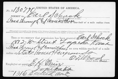 Charles Schock permit - Page