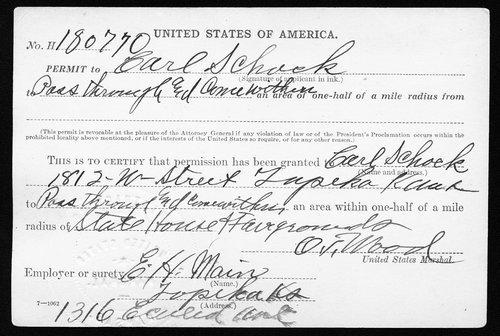 Charles Schock permit - Page
