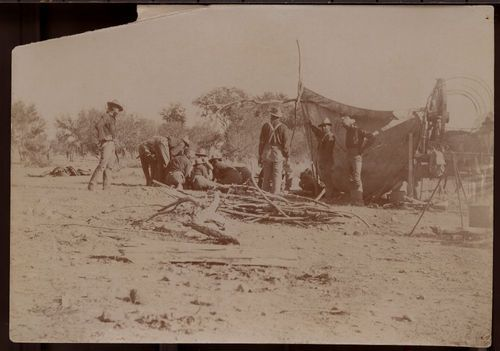 Soldiers preparing a camp site - Page
