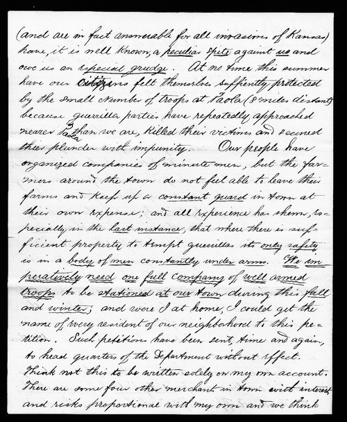 Henry Newman to Thomas Carney - Page