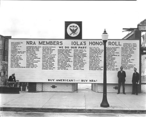 National Recovery Administration Honor Roll, Iola, Kansas - Page