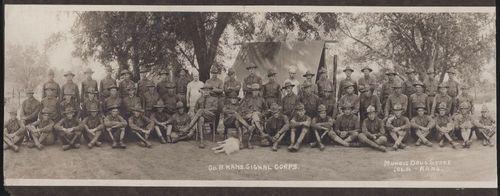 Company B. Kansas Signal Corps, Iola, Kansas - Page