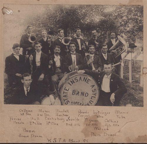 State Insane Asylum Band, Topeka, Kansas - Page