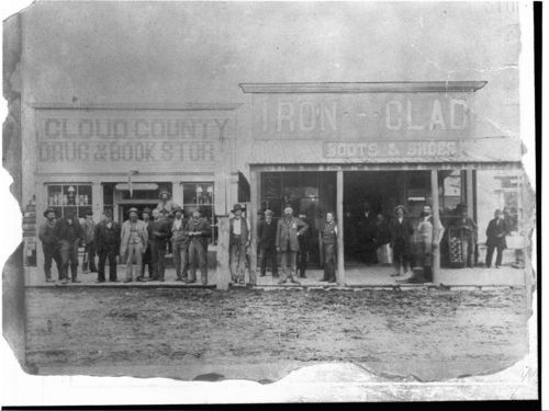 Cloud County Drug and Book Store, and Iron-Clad Boots and Shoes; Concordia, Kansas - Page