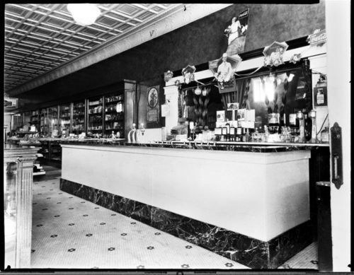 Palace Drug Store soda fountain, Iola, Kansas - Page