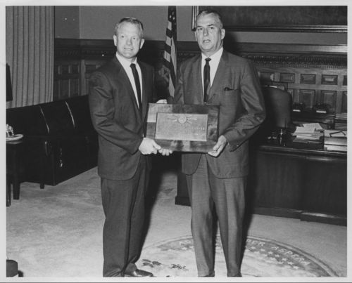 Vern Miller and Kansas Governor William Avery - Page