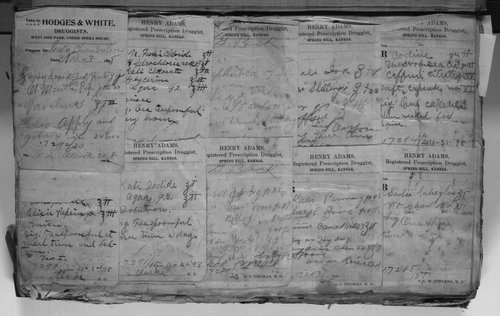 Prescription slips pasted into a prescription register, Spring Hill, Kansas - Page