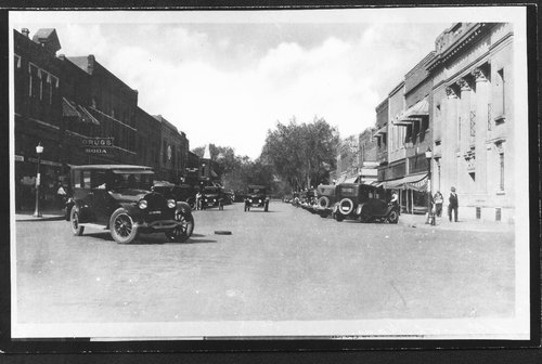 Street scene and drug stores, Ellsworth, Kansas - Page
