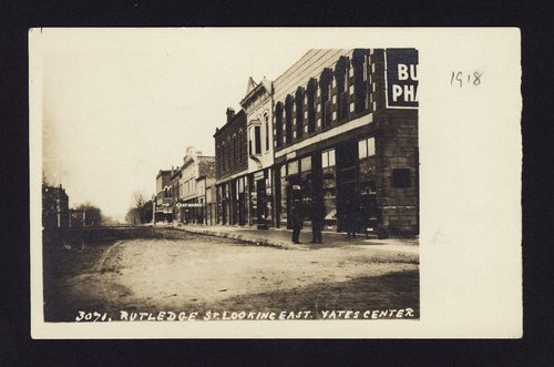 Rutledge Street looking east, Yates Center, Kansas - Page
