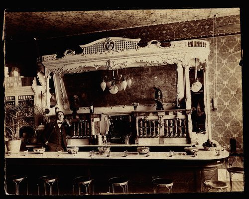 Loeb and Hallis Drug Store's soda fountain, Junction City, Kansas - Page