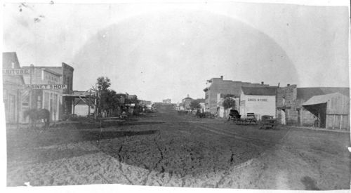 Drug stores on Broadway Street, Marysville, Kansas - Page