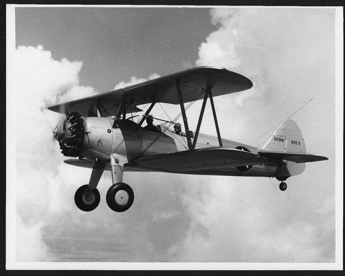 View of the flight training plane, Kaydet - Page