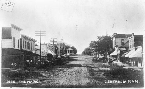 Businesses on Main Street, Centralia, Kansas - Page
