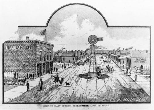 Main Street, Beeler, Kansas - Page