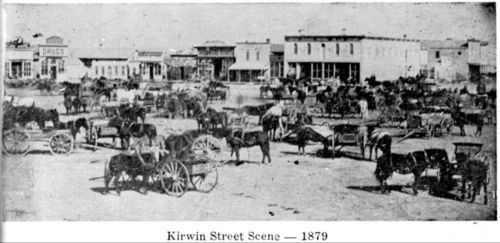 Street scene in Kirwin, Kansas - Page